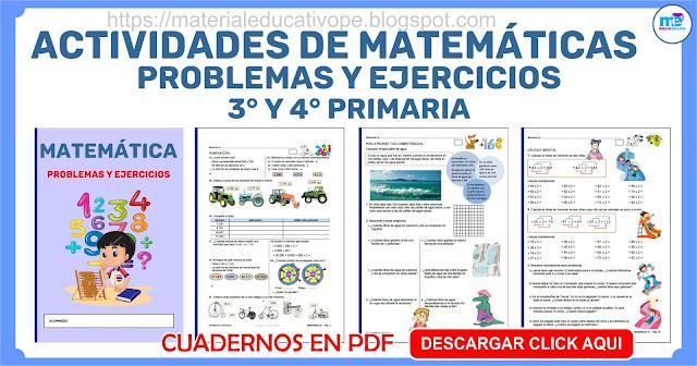 Actividades de Matemáticas para Vacaciones 3° y 4° Grado Primaria