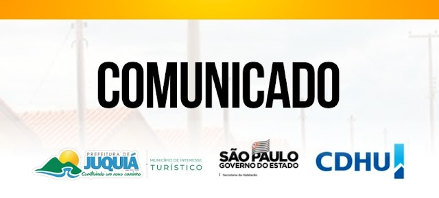 Divulgação da listagem das famílias classificadas para o empreendimento habitacional Juquiá-E