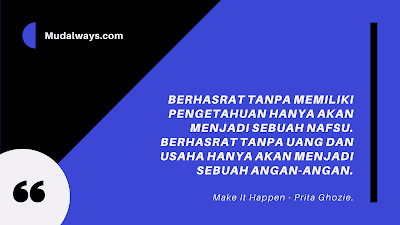 Review Buku: Make It Happen! By Prita Ghozie.