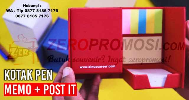 Kotak Pen memo dengan isi pos it Berbentuk segi empat, souvenir pen holder daur ulang termurah, Kotak dengan pen holder Memo, Memo Recycle Post-it, Post It Kotak - Kertas Memo & Sticky Notes, box set