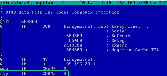konfigurasi db.nama ftp server debian
