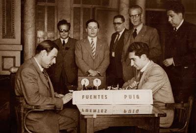 Partida de ajedrez Puig-Fuentes, 10/5/1948