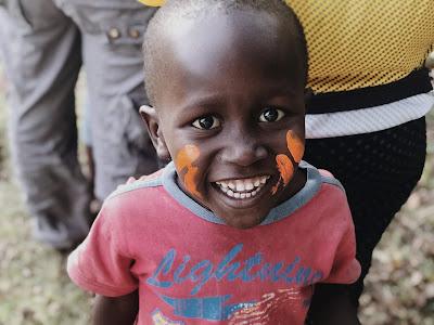 Niño en uno de los proyectos de Kenia.