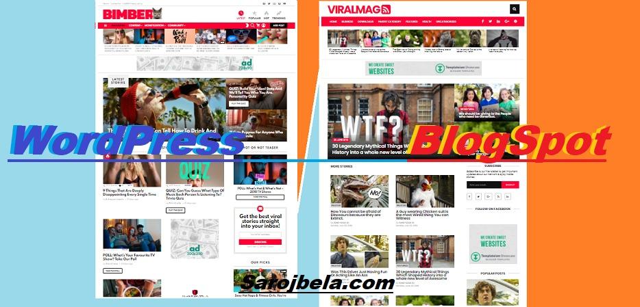 Bimber Viral Magazine WordPress Theme and Viral Mag Blogger Template Free
