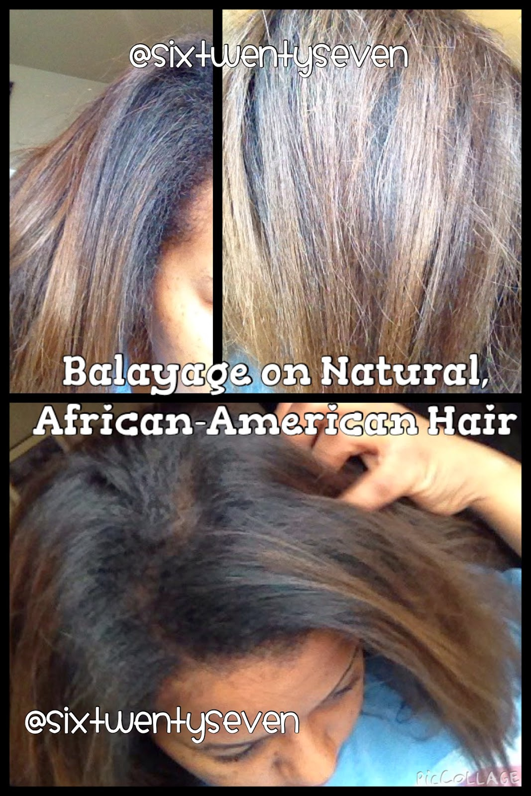 Six Twenty Seven Balayage Results On Natural African American Hair