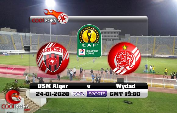 مشاهدة مباراة الوداد وإتحاد الجزائر اليوم 24-1-2020 دوري أبطال أفريقيا