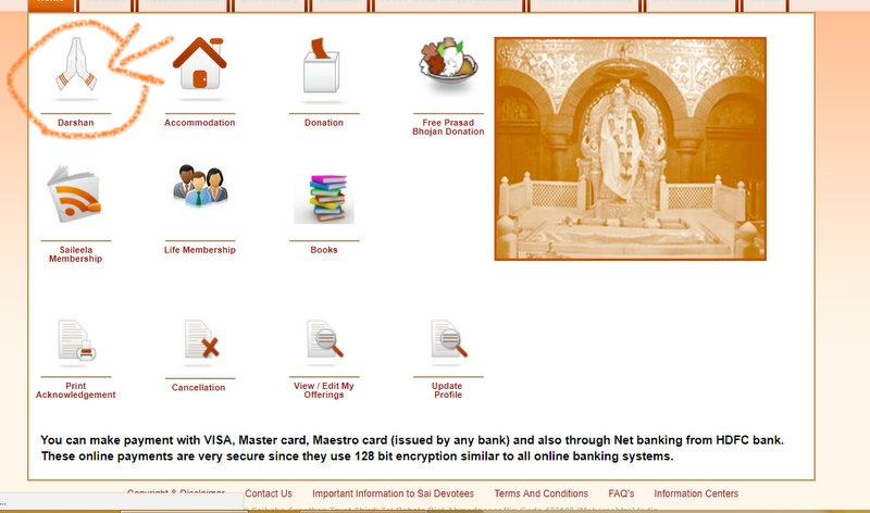 Sai Baba Online Trust - Click Darshan on Home Page