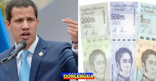 Juan Guaidó dice que emisión del billete de 1 millón es un fracaso económico