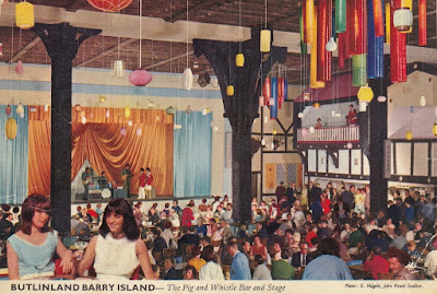 Butlinland Barry Island. The Pig and Whistle Bar and Stage. John Hinde Limited. 12 August 1980