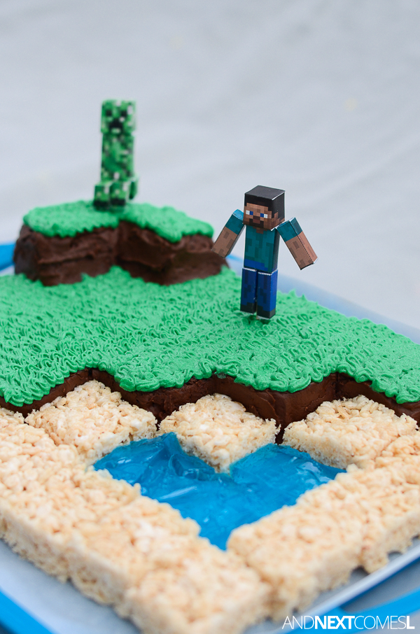 Cool Minecraft Cake And Next Comes L Hyperlexia Resources Birthday Cards Printable Giouspongecafe Filternl