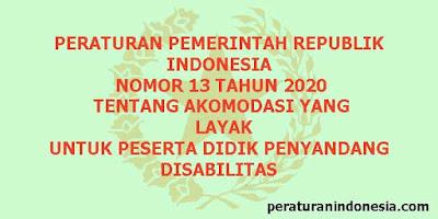 PP Nomor 13 Tahun 2020