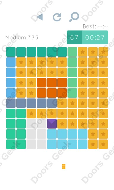 Cheats, Walkthrough for Blocks and Shapes Medium Level 375