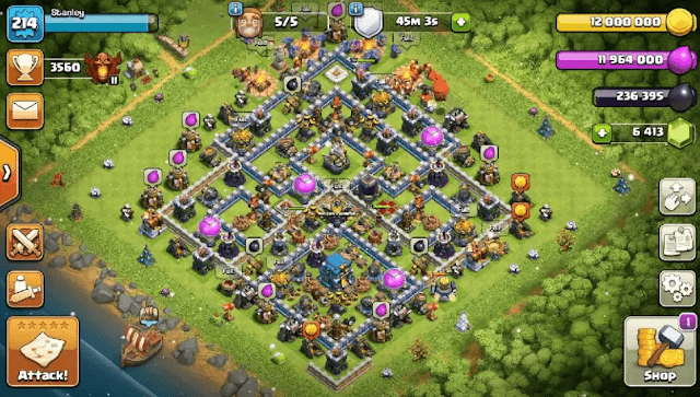 akun coc th 12 gratis max