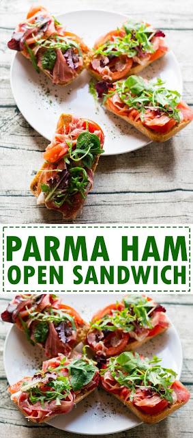 Parma Ham Open Sandwich