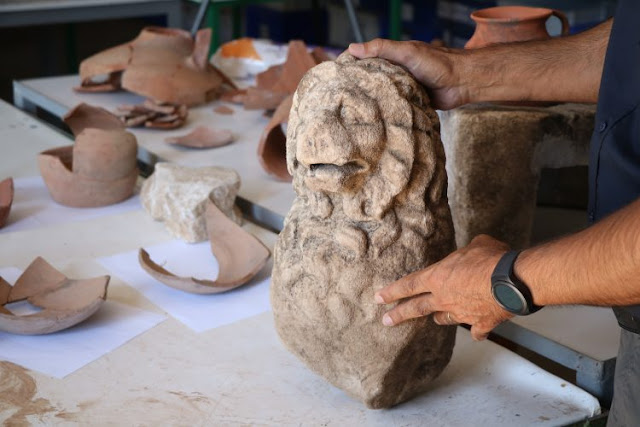 Lion statue found in ancient Greek city of Assos