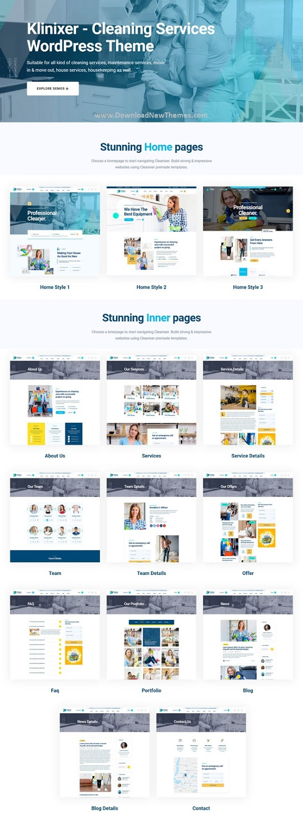 Cleaning Services WordPress Template