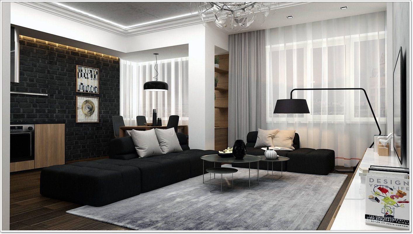 25 moderne stuer med kule, rene linjer - interiør inspirasjon