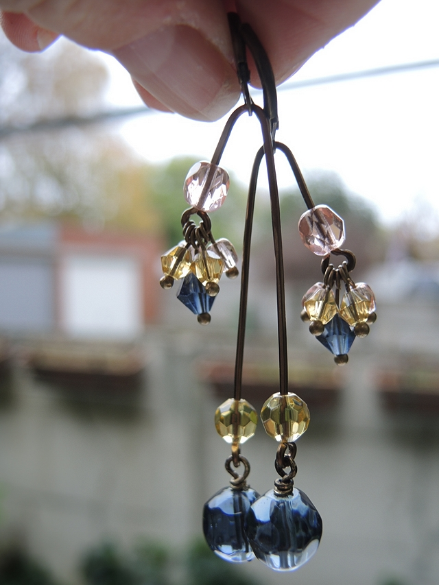 DIY oorbellen/earrings 'mobile'