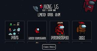 Among us.dev || Amongus.dev || Get free Pets, Impostors and skins used amongus dev