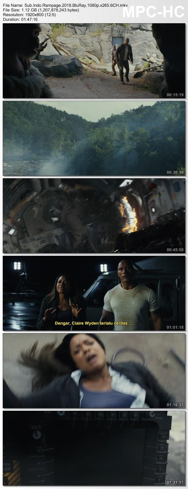Screenshots Download Film Gratis Rampage (2018) BluRay 480p MP4 Subtitle Bahasa Indonesia 3GP