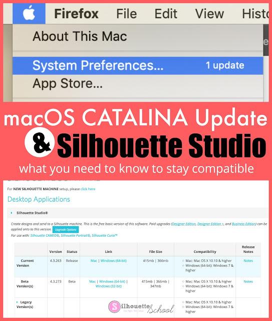 silhouette 101, silhouette america blog, silhouette studio, macOS, Catalina