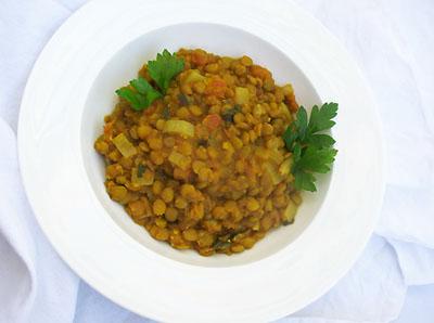spicy lentils