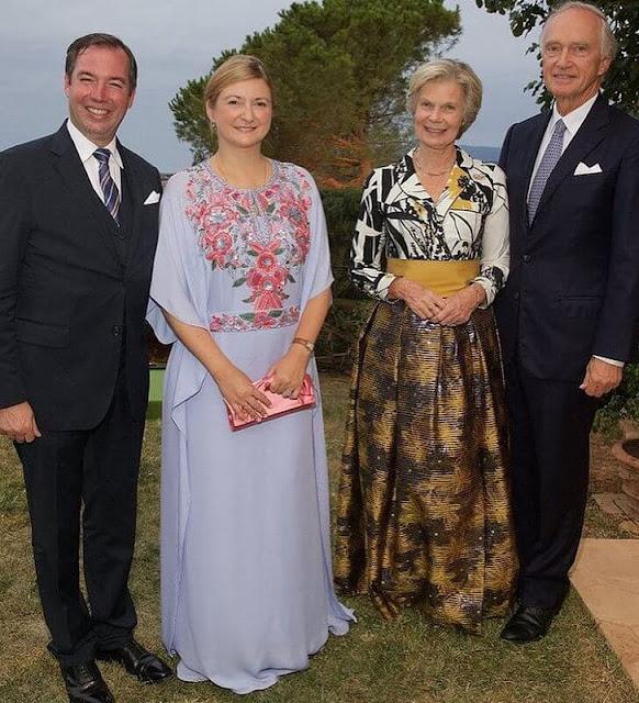 Hereditary Grand Duke Guillaume, Hereditary Grand Duchess Stephanie, Prince Felix and Princess Alexandra of Luxembourg