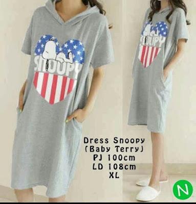 Jual Atasan Dress Snoopy - 12330