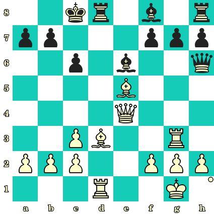 Les Blancs jouent et matent en 2 coups - Emanuel Lasker vs Fritz Englund, Schéveningue, 1913