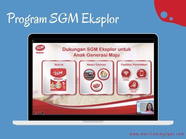 program SGM Eksplor untuk #GenerasiMaju