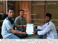 KKN Mahasiswa UIN Raden Intan Lampung Urus Izin TPQ Al-Faqih Pekon Datarajan