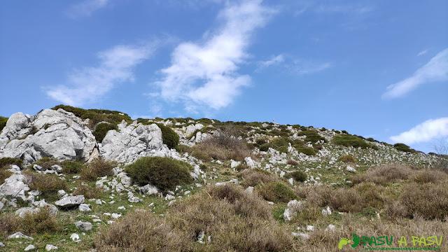 Llegando a la cima de la Porra Bescoba