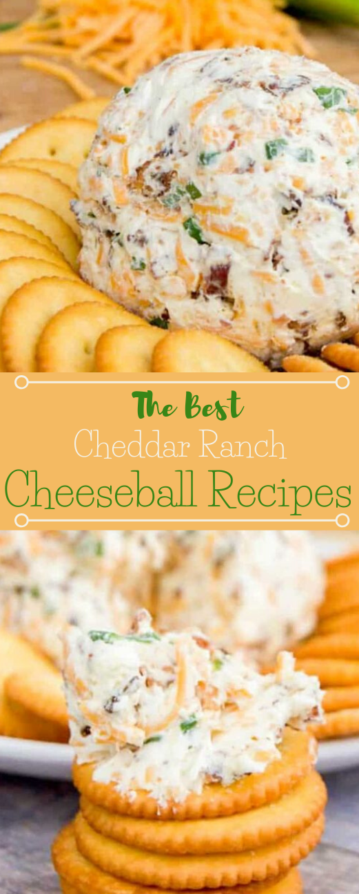 Cheddar Ranch Cheeseball #dinner #cauliflower #cheese #recipes #appetizers