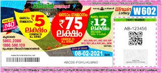 Kerala Lottery Results 08-02-2021 Win Win W-602 Lottery Result