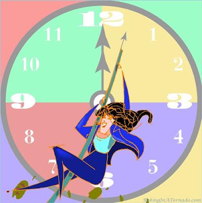 Dragging that second hand around the clock | Graphic property of www.BakingInATornado.com | #funny #MyGraphics