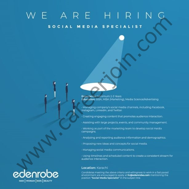 Eden Apparels Pvt Ltd Jobs 2021 in Pakistan