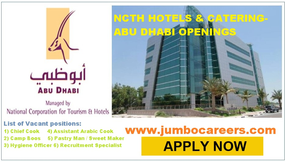 Latest Walk In Interview for NCTH Hotel & Catering Jobs in Abu Dhabi
