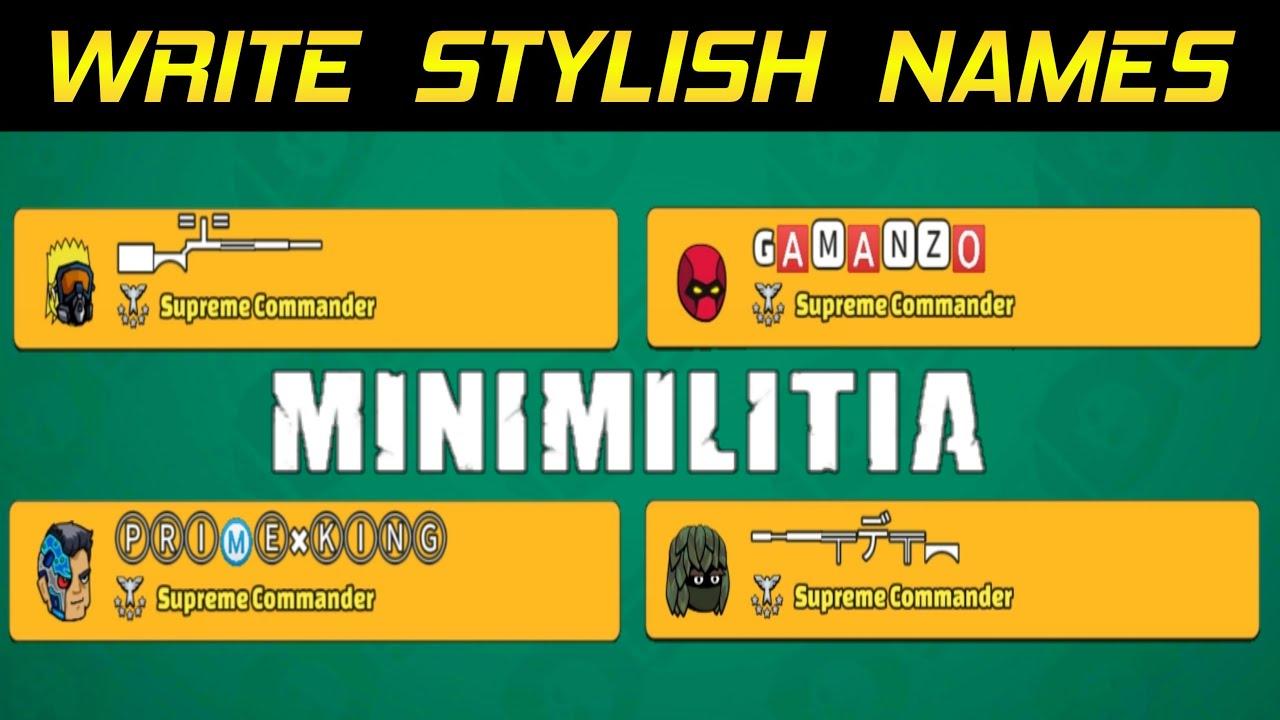 Mini Militia Fancy Names