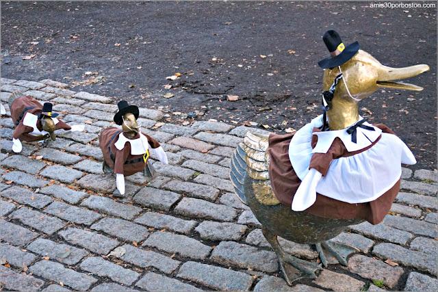 Make Way for Ducklings en el Boston Public Garden
