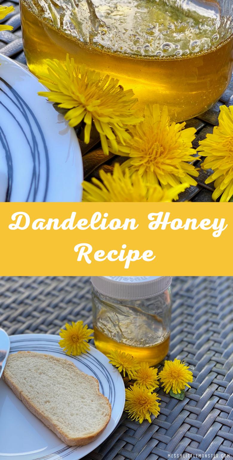 Easy dandelion honey recipe. Dandelion syrup.