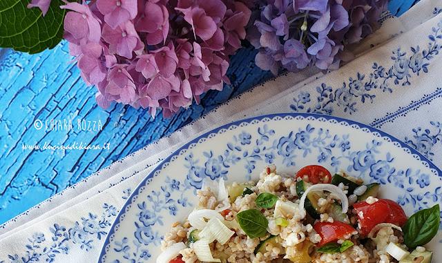 Insalata di cereali alla greca