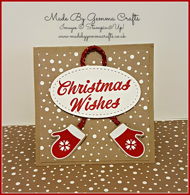 Stampin'Up! christmas wishes pop up