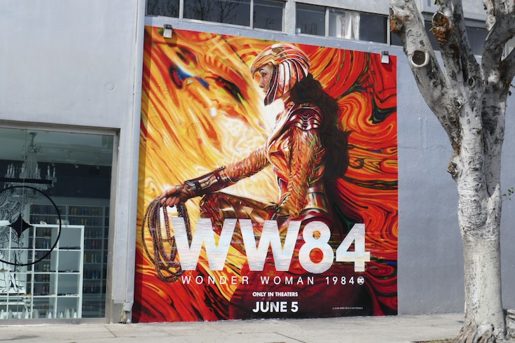 WW84 movie wall mural ad
