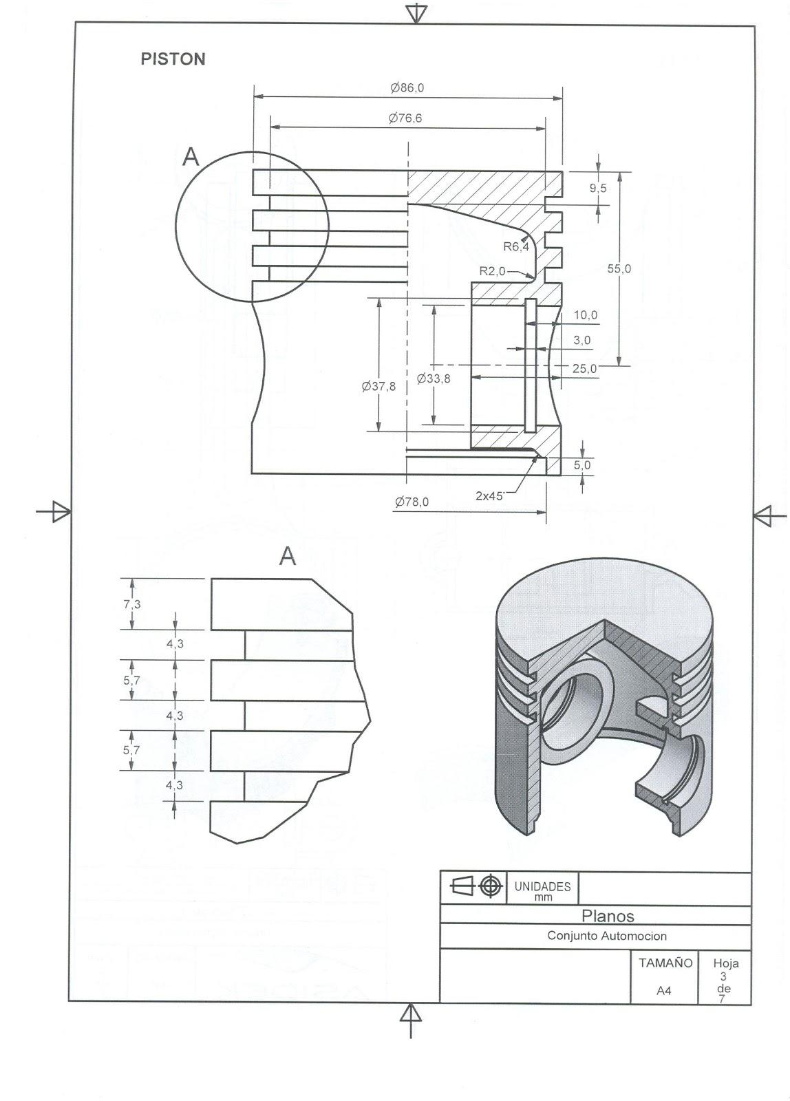 Motor Solidworks Planos