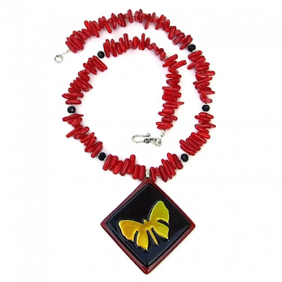 dichroic butterfly jewelry for women