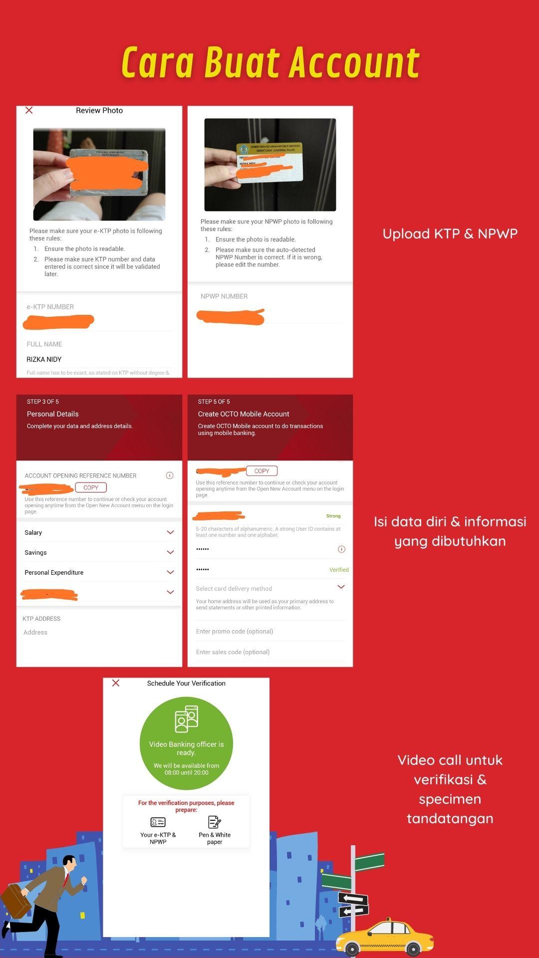 tutorial membuat account octo mobile