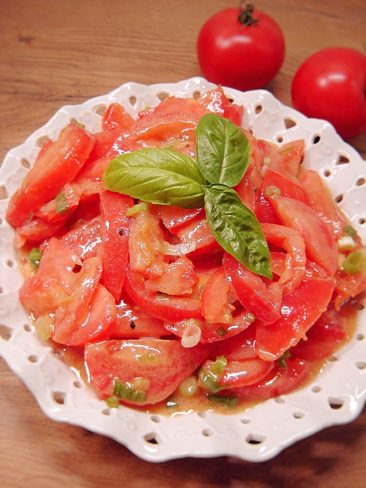 Pomidory w sosie miodowo-musztardowym