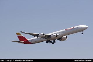 Avión Airbus A340 EC-IQR