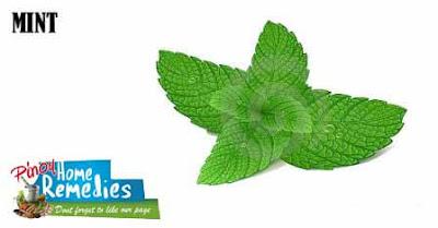 Home Remedies For Peeling Fingertips: Mint Juice