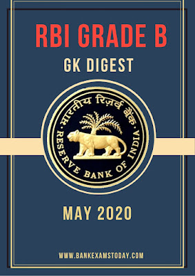 RBI Grade B GK Digest: May 2020